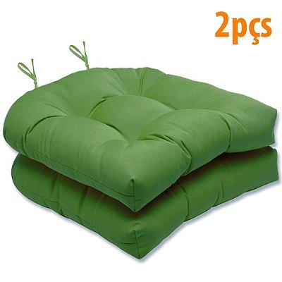 Almofada Para Assento Futton Solid 40x40cm Verde Bandeira 2Pçs