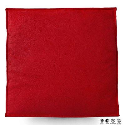 Almofada Futton Zabuton Veludo 42x42cm - Lacre