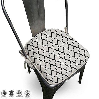 Assento Para Cadeira Algodão Agriz 40x40cm Preto