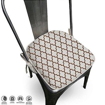 Assento Para Cadeira Algodão Agriz 40x40cm Tabaco