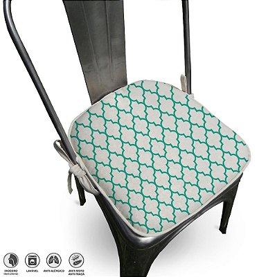 Assento Para Cadeira Algodão Agriz 40x40cm Tiffany