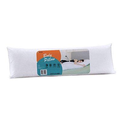 Travesseiro body pillow 40x130cm Percal de Microfibra Peletizada Branco - Com Fronha