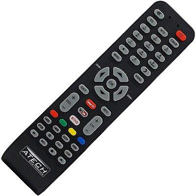 Controle Remoto TV LED SEMP TCL RC199E / L32S4700S / L40S4700FS / L48S4700FS / L55S4700FS com Netflix e Youtube