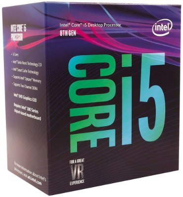 PROCESSADOR INTEL CORE i5 8400 2.8GHZ 9MB CACHE COFFEE LAKE LGA1151