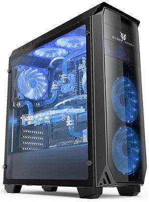 GABINETE MAZER VOLCANO GAMER VC610-BLUE