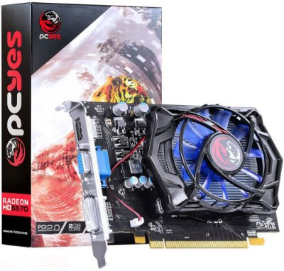 PLACA DE VÍDEO PCYES AMD RADEON HD 6570 2GB DDR5 128BITS