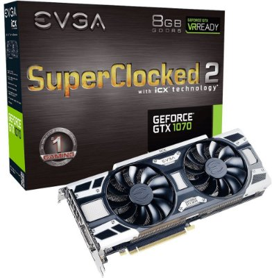PLACA DE VÍDEO EVGA GEFORCE GTX 1070 SC2 8GB GDDR5 256BITS