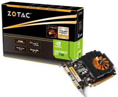 PLACA DE VÍDEO ZOTAC GEFORCE GT 730 2GB DDR3 - SEMINOVA
