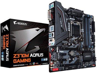 PLACA MÃE GIGABYTE Z370M AORUS GAMING DDR4 LGA1151
