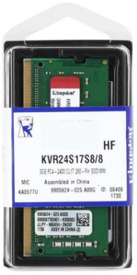 MEMÓRIA NOTEBOOK KINGSTON 8GB 2400MHZ DDR4
