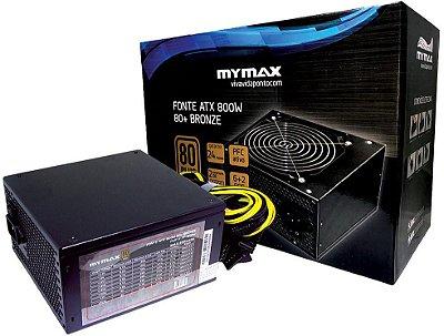 FONTE MYMAX 800W 80PLUS BRONZE MPSU/FP850W
