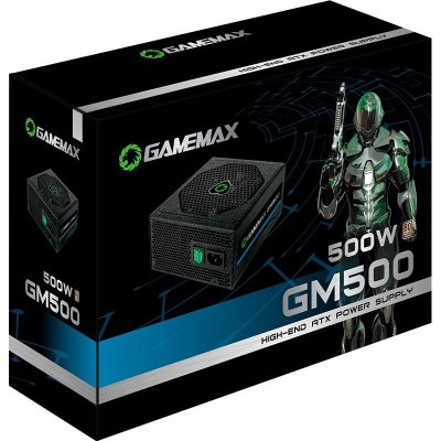 FONTE GAMEMAX 500W 80PLUS BRONZE GM500