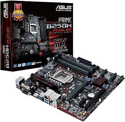 PLACA MÃE ASUS PRIME B250M PLUS/BR DDR4 LGA1151