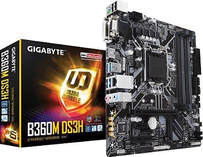 PLACA MÃE GIGABYTE B360M DS3H DDR4 LGA1151