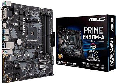 PLACA MÃE ASUS PRIME B450M-A/CSM DDR4 AM4