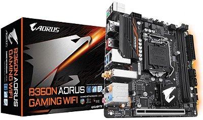 PLACA MÃE GIGABYTE B360N AORUS GAMING WIFI DDR4 LGA1151