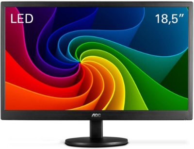 "MONITOR AOC 18.5"" LED VGA E970SWNL"