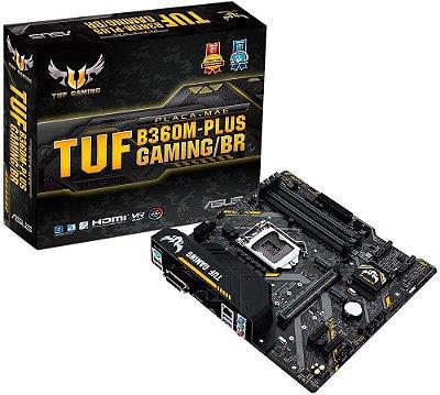 PLACA MÃE ASUS TUF B360M-PLUS GAMING/BR DDR4 LGA1151