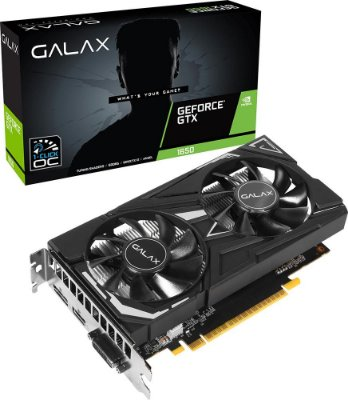 PLACA DE VÍDEO GALAX GEFORCE GTX 1650 1-CLICK OC 4GB GDDR6 128BITS