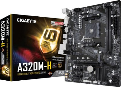 PLACA MÃE GIGABYTE A320M-H DDR4 AM4