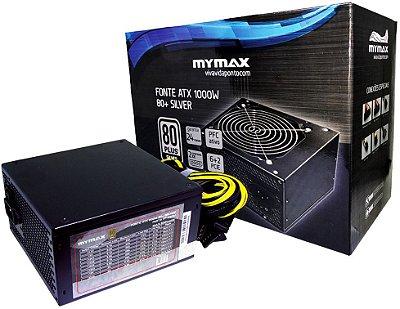 FONTE MYMAX 1000W 80PLUS SILVER MPSU/FP1000W