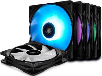 KIT 5 FAN DEEPCOOL RF120M 120MM RGB DP-FRGB-RF120-5C-M