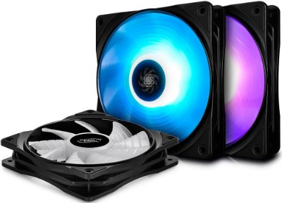 KIT 3 FAN DEEPCOOL RF120 120MM RGB DP-FRGB-RF120-3C