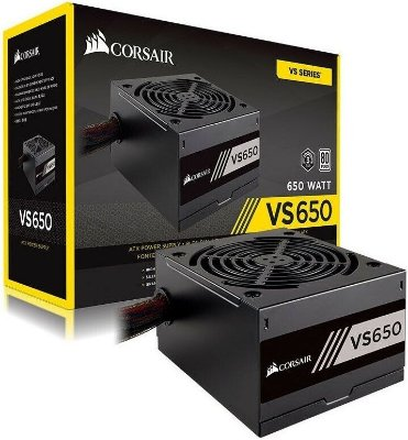 FONTE CORSAIR 650W VS650 80PLUS WHITE CP-9020172-BR