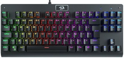 TECLADO MECÂNICO REDRAGON DARK AVENGER RGB SWITCH RED K568RGB-1