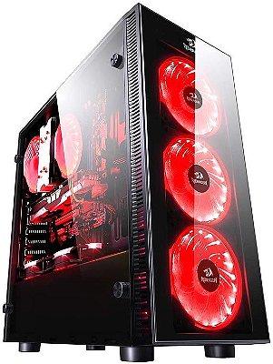GABINETE REDRAGON SIDESWIPE RGB GC-601 - 04 COOLERS INCLUSO