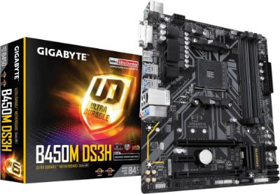PLACA MÃE AMD GIGABYTE B450M DS3H DDR4 AM4