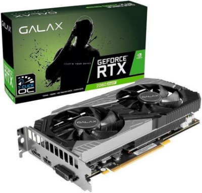 PLACA DE VÍDEO GALAX GEFORCE RTX 2060 SUPER  1-CLICK OC 8GB GDDR6 256BITS