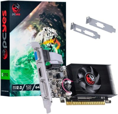 PLACA DE VÍDEO PCYES GEFORCE G210 1GB DDR3 64BITS