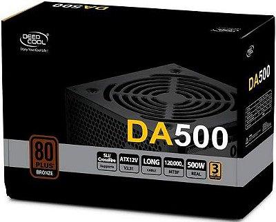 FONTE DEEPCOOL 500W 80PLUS BRONZE DA500 DP-BZ-DA500N