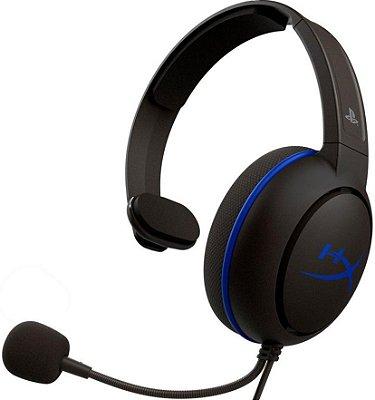 HEADSET HYPERX CLOUD CHAT PS4 GAMER HX-HSCCHS-BK/AM