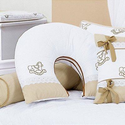 Almofada Amamentação CARROSSEL Luxo 100% Algodão