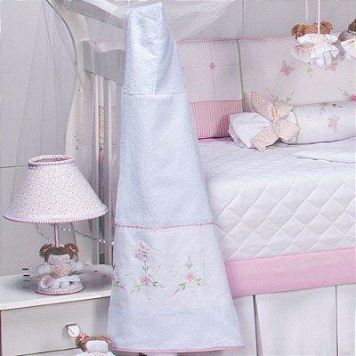 Toalha Banho de Bebe Forrada Capuz Leticia Rosa