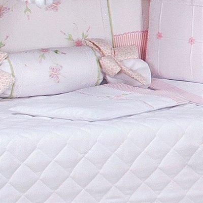 Travesseiro de Berço Baby Leticia Rosa