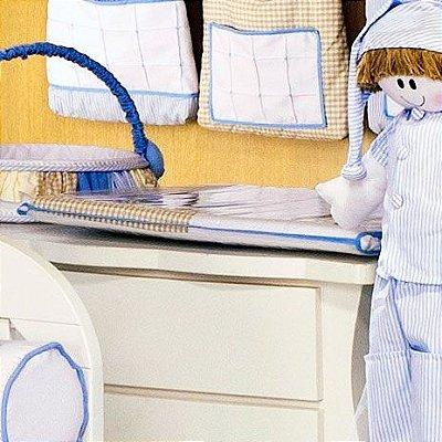 Trocador de Bebê com Espuma 4cm Sleep Azul - Plastificado