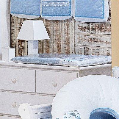 Trocador de Bebê com Espuma AERO Luxo 100% Algodão - Plastificado