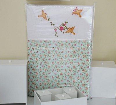 Trocador de Bebê com Espuma LISLIE Luxo 100% Algodão - Plastificado
