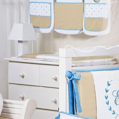 Trocador de Bebê com Espuma NANTES Luxo 100% Algodão - Plastificado / LETRA PERSONALIZADA