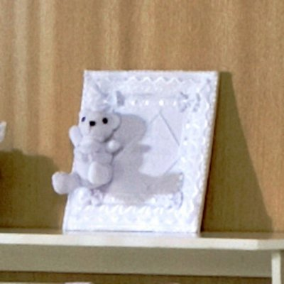 Enfeite de Porta Quadrinho Baby Bear Branco