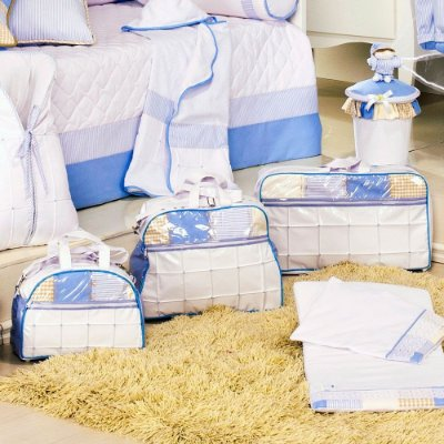 Kit Bolsas Bebê 3 Pçs Sleep Azul