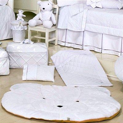 Tapete Quarto de Bebe Urso Bear Branco