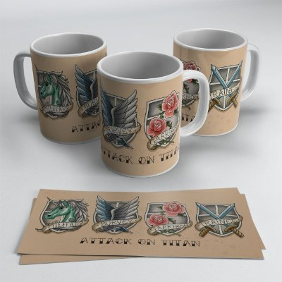 Caneca Tropas Attack on Titan