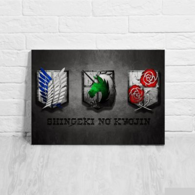 Placa Decorativa Tropas Attack on Titan