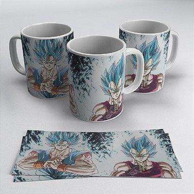 Caneca Goku e Vegeta Super Sayajin Blue
