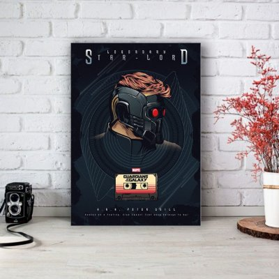 Placa Decorativa Star Lord - Peter Quill