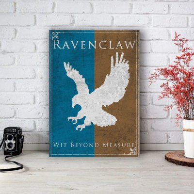 Placa Decorativa Ravenclaw - Corvinal Harry Potter